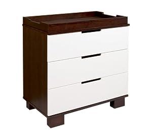 babyletto Modo 3 Drawer Dresser Changer in Espresso/White