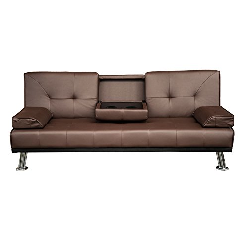 Brown Faux Leather Sofa Faux Leather Sofa Bed With