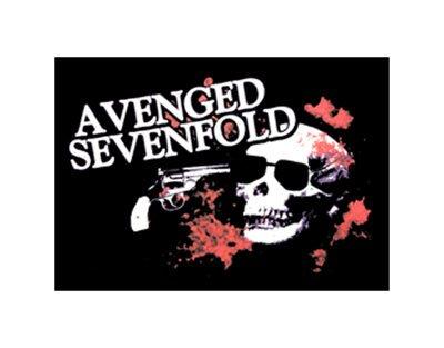 Ufficiale AVENGED SEVENFOLD, teschio pistola-Textile poster Bandiera (75x 110cm)