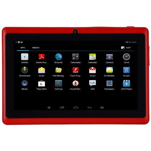 Moonar® Android 4.2 Multi-couleur Double Caméra Écran Tactile Capacitif de 5 Points Tablette PC (Rouge)