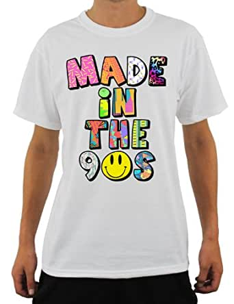 MADE IN THE 90S BLACK OR WHITE T-SHIRT FUNKY 90'S MENS LADIES T SHIRT 100% CO...