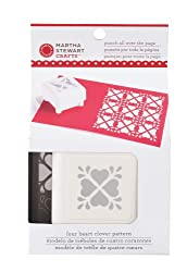 Martha Stewart Crafts Heart Clover Pattern Punch All Over the Page