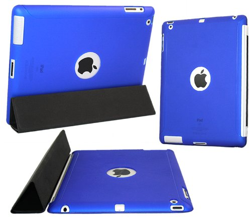 "iTALKonline ProGel BLAU Mit Ausschnitt für Apple-Logo Rückseite Tough TPU Case / Skin für Apple iPad 2 (2011) 2nd generation iPad 3 ""The New iPad Retina Display"" (2012) 3rd Generation (Wi-Fi and Wi-Fi + 3G + 4G) 16GB 32GB 64GB works with GENUINE Apple iPa"