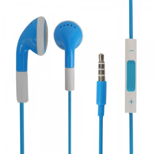 Blue 3.5Mm Stereo Fashion Earphone Headsets With Volume Control & Microphone For Sony Xperia Tipo (By Things Needed)
