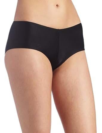Carnival Womens Microfiber Boyshort Panty, Black, Small