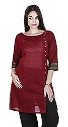 Eessence Women's Cotton Kurta (MCK02_MR_XL, Red, XL)