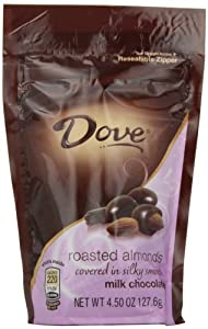 Dove Milk Chocolate Almond Candy, 4.5-Ounce Packages (Pack of 6)