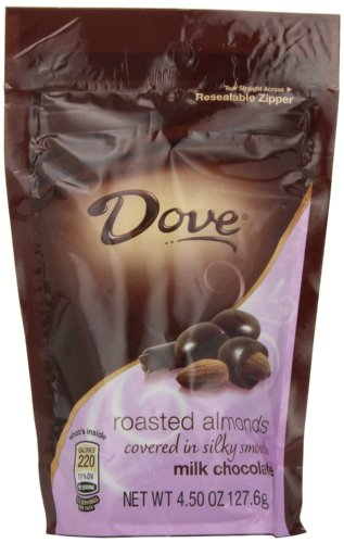 Dove Milk Chocolate Almond Candy, 4.5-Ounce Packages