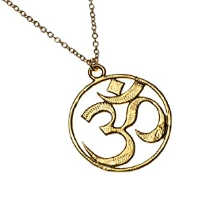 Om Gold Dipped Necklace on Rolo Chain
