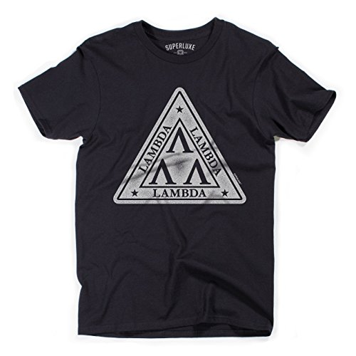 [Superluxe™ Mens Tri-Lamb Revenge Of The Nerds Vintage 80s Movie T-Shirt, XXX-Large, Black] (Animal House College Costumes Tshirt)