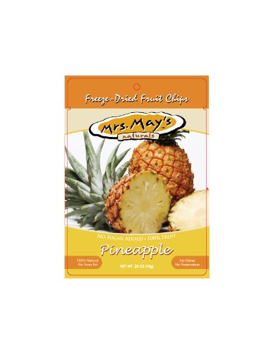 Mrs. May's Naturals Freeze-Dried Fruit Chips, Pineapples, 0.35-Ounce Bags (Pack of 36)