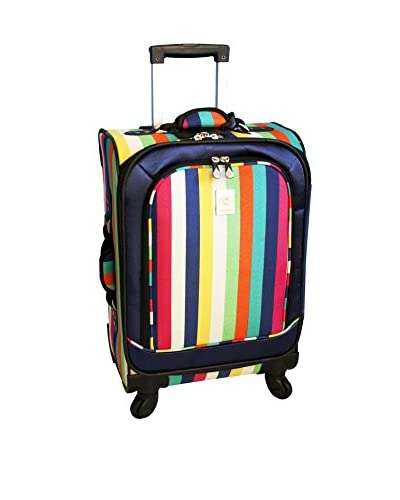 Jenni Chan 360 Quattro 21 Inch Luggage, Multi Stripes