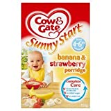 Cow & Gate Ss Banana & Strawberry Porridge 125g