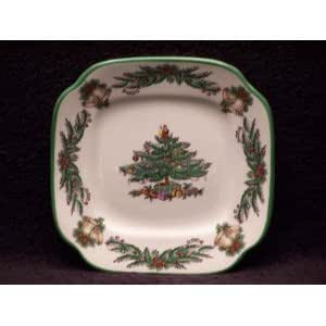 Spode christmas tree garland square canape for Plastic canape dishes