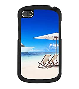 Beach Chairs 2D Hard Polycarbonate Designer Back Case Cover for BlackBerry Q10