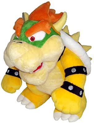 "Super Mario Plush - 10"" Bowser Soft Stuffed Plush Toy Japanese Import from ban"