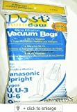Panasonic Types U, U-3, U-6 Vacuum Bags Microfiltration with Closure - 9 Pack