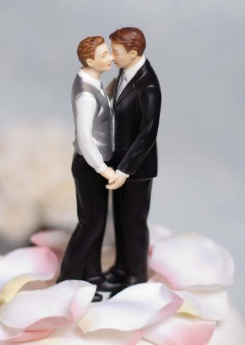 Gay cake toppers for wedding cakes