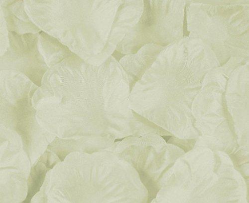 EOZY Pétale de Rose pour Mariage Cérémonie en Soie Tissu Décoration 5*5.5 CM Blanc