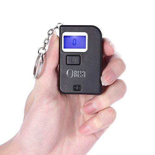 OBEST Mini Numérique Éthylotest Porte-clés Alcootest Haute précision capteur auto-contrôle