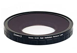 Opteka 72mm 0.4X HD2 Large Element Fisheye Lens for Panasonic AG-DVX100, HMC150 and DVD80 Professional Video Camcorders