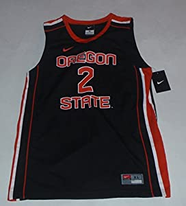 #2 Oregon State Beavers Nike Dri-Fit Black Youth Boys Replica Basketball Jersey (Large)