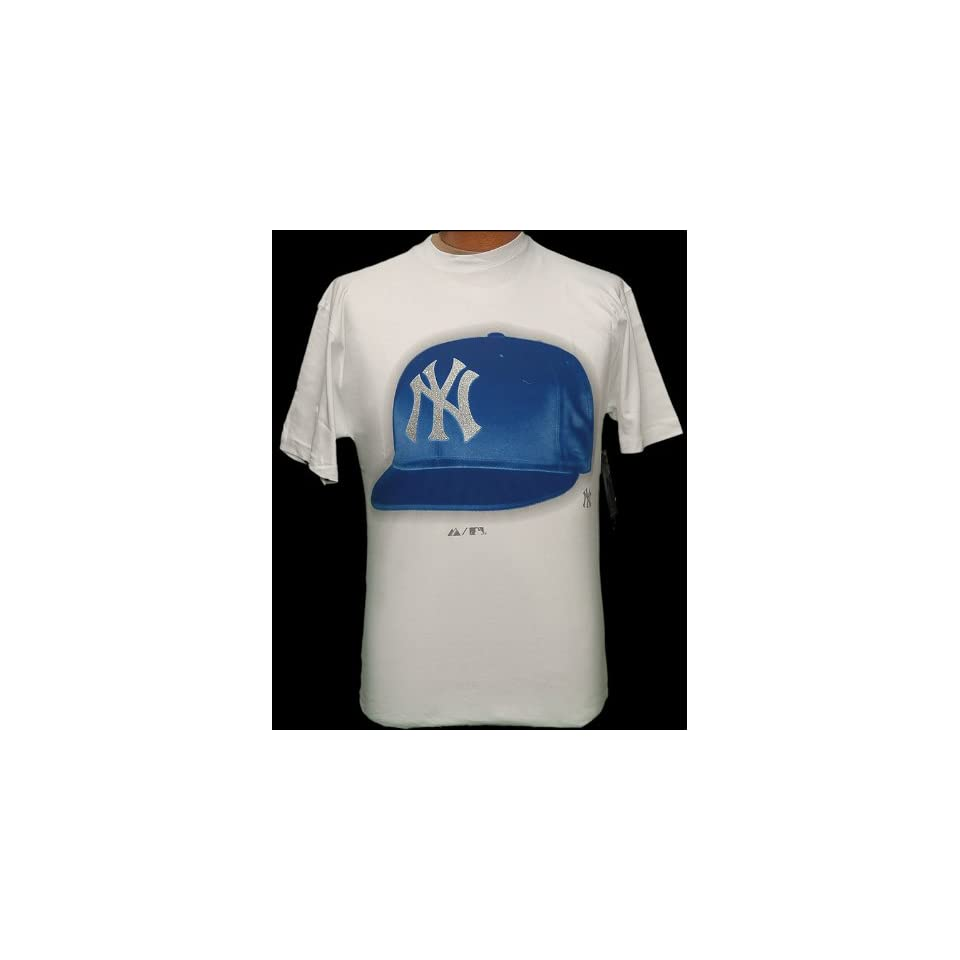 new arrival 4fe96 2933d Large MLB New York NY Yankees White Bling logo Cap S/S T ...
