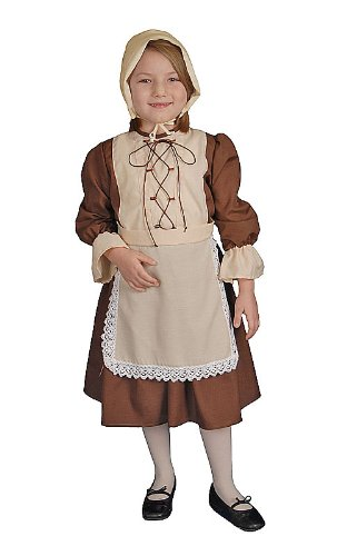 Colonial Girl Child Halloween Costume Size 2T Toddler