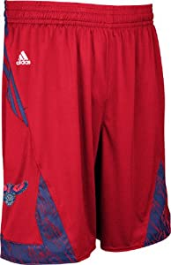 Atlanta Hawks Red NBA Pre-Game Authentic Basketball Shorts by Adidas by adidas