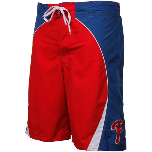 MLB Philadelphia Phillies Color Block Boardshorts - Red/Royal Blue (X-Large) at Amazon.com