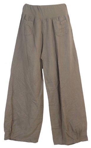 pantalon en lin femme 2 poches appliqu es fabriqu en italie v tements femme boutique en ligne. Black Bedroom Furniture Sets. Home Design Ideas