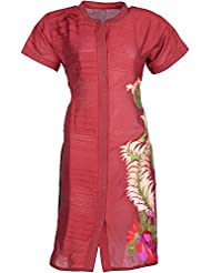 Elegant Blended Women Kurta (26139 Tty, Maroon, Free Size)