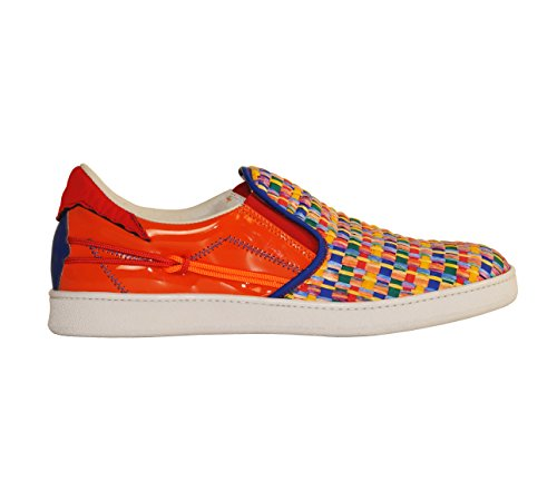 Scarpe L4K3 LAKE Unisex SLIP ON Raffia MULTICOLORE / ARANCIO (45 EU)
