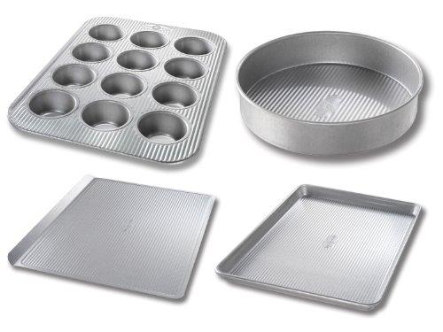 USA Pan 4-Piece Essential Baker Pan Set