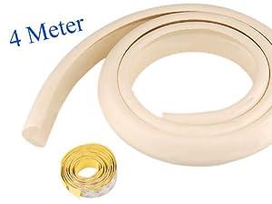 tinxi ® 4M (2x2m) Bebé Espuma de protección de borde Protección de seguridad con cinta de 6 metros marca tinxi