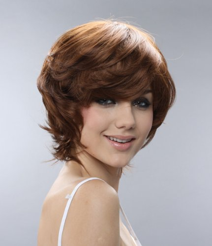 Cosplayland C302 – Designer Short Brown Natural Curly Wig