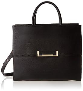 Ivanka Trump Heather Top Handle Brief IT1820 Shoulder Bag,Black,One Size