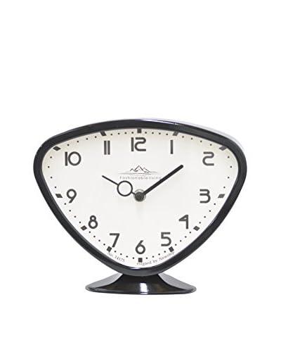 Three Hands Fashionable Living Metal Table Clock, Black