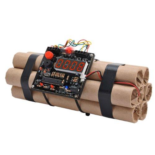 USBアラームクロック 「早朝ダイナマイト」 超リアルな時限爆弾型 目覚まし時計 ミニゲーム機能搭載