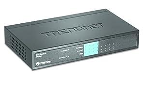 TRENDnet 8-Port 10/100Mbps PoE Switch (4x 10/100, 4x 10/100 PoE) TPE-S44 from TRENDnet