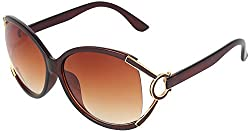Omnesta Women's Oval Sunglasses (Brown) (PD018)