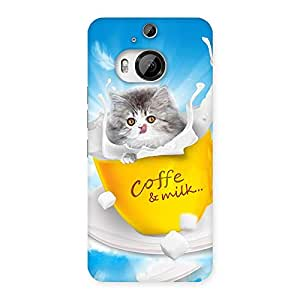 Gorgeous Coffee Kitty Back Case Cover for HTC One M9 Plus
