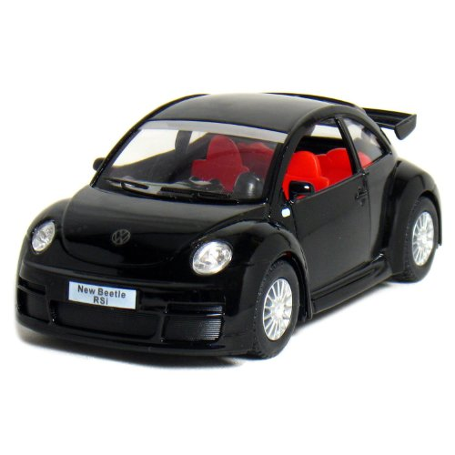 "5"" Volkswagen New Beetle RSi 1:32 Scale (Black) by Kinsmart - 1"