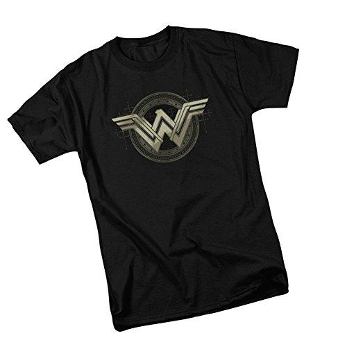 Ancient Emblems -- Batman v Superman: Dawn Of Justice Adult T-Shirt, Small (Superman T Shirt Emblem compare prices)