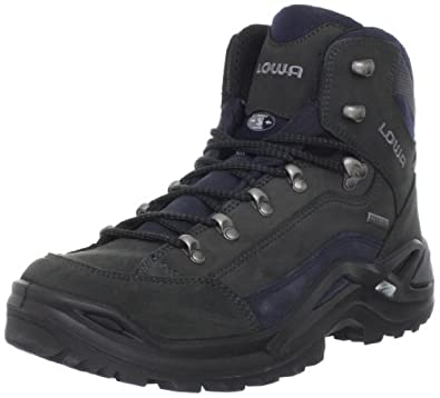 Lowa Men's Renegade GTX Mid Hiking Boot,Dark Grey/Navy,7.5 N US