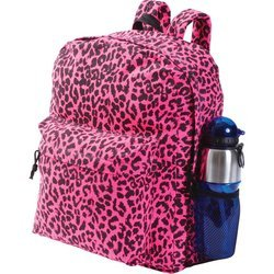 Extreme Pak Neon Pink Leopard Print Backpack , Pink Neon Leopard Backpack
