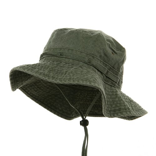 Fishing Hiking Outdoor Hat (02)-Olive W10S30F (L)