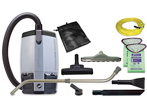 ProTeam Commercial Backpack Vacuum Cleaner, ProVac FS 6 HEPA Vacuum Backpack with Commercial Home Kit, 6 Quart - Corded (Proteam Provac Fs 6 compare prices)