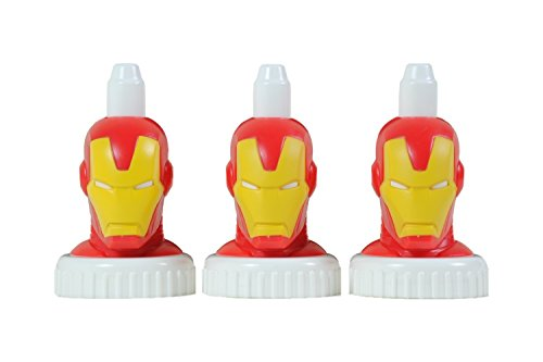 good2grow spill-proof bottle toppers 3-pack, Iron Man