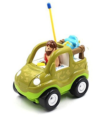 Cartoon R/C Dinosaur Safari Car Radio Control Toy for Toddlers